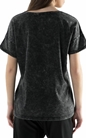GARCIA JEANS-Γυναικεία κοντομάνικη μπλούζα Garcia Jeans μαύρη με χάντρες