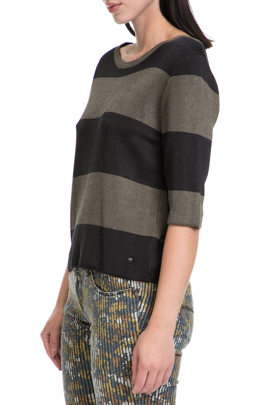 GARCIA JEANS-Γυναικεία μπλούζα GARCIA JEANS καφέ