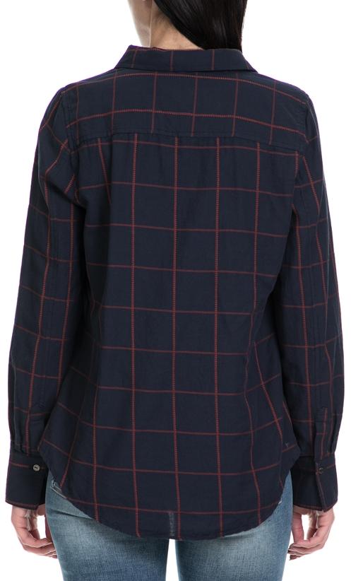 GARCIA JEANS-Γυναικείο πουκάμισο GARCIA JEANS μπλε-κόκκινο