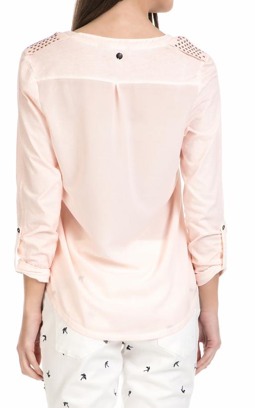 GARCIA JEANS-Γυναικεία μακρυμάνικη μπλούζα Garcia Jeans  ροζ