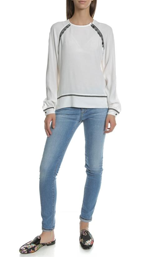 GARCIA JEANS-Γυναικεία μακρυμάνικη μπλούζα Garcia Jeans λευκή