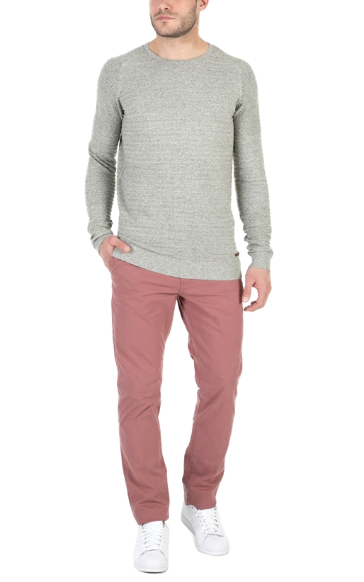 GARCIA JEANS-Ανδρικό μακρυμάνικο πουλάβερ Garcia Jeans μπεζ
