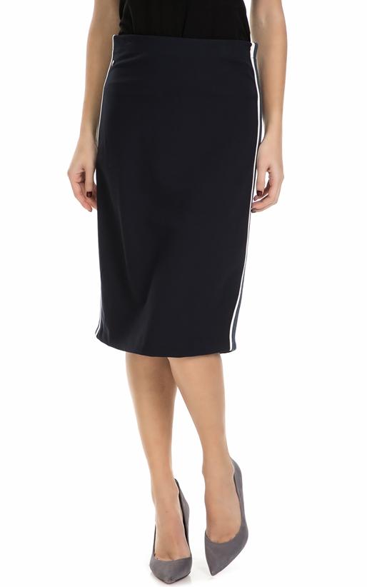 GARCIA JEANS-Γυναικεία midi φούστα Garcia Jeans μαύρη