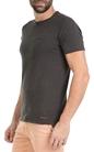 GARCIA JEANS-Ανδρική κοντομάνικη μπλούζα Garcia Jeans ανθρακί
