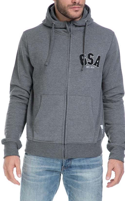 GSA-Ανδρική φούτερ ζακέτα GLORY GSA γκρι