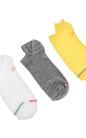 GSA-Σετ ανδρικές κάλτσες GSA λευκές-γκρι-κίτρινες