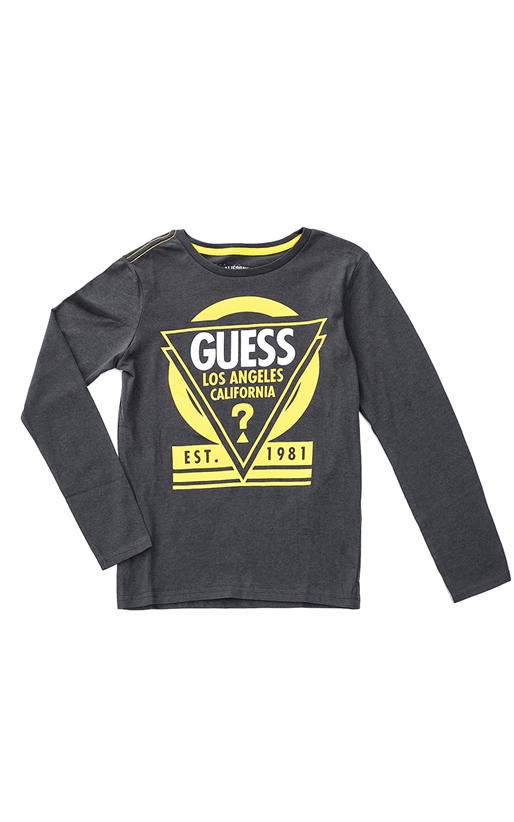 GUESS KIDS-Παιδική μπλούζα GUESS KIDS γκρι