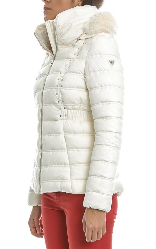 Γυναικείο μπουφάν GUESS NEZIHE λευκό (1484584)  f247f3101e9