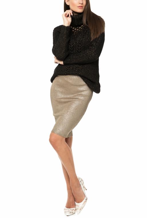7e49429d203 Γυναικείο πουλόβερ με ζιβάγκο GUESS LORITA μαύρο-χρυσό (1668074 ...