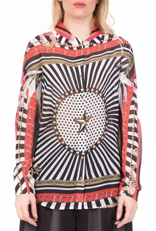2431aac885b3 Γυναικείο μακρυμάνικο πουκάμισο CLOUISGUESS εμπριμέ (1685992 ...