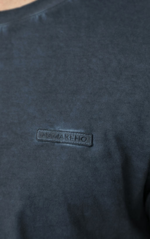 HAMAKI HO -Ανδρική κοντομάνικη μπλούζα Hamaki Ho μπλε
