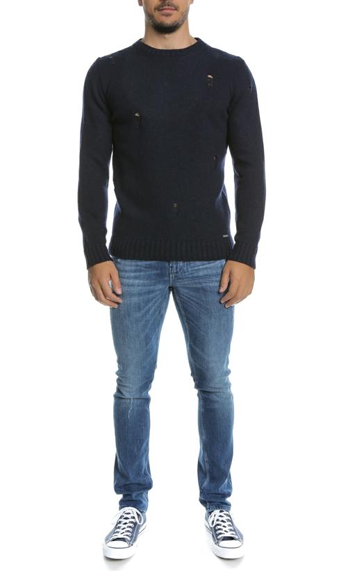 HAMAKI-Ανδρικό πουλόβερ HAMAKI μπλε
