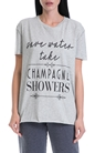 JUICY COUTURE-Γυναικεία μπλούζα CHAMPAGNE SHOWERS JUICY COUTURE γκρι