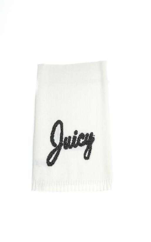JUICY COUTURE-Γυναικείο κασκόλ JUICY JACQUARD λευκό