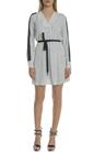 JUICY COUTURE-Γυναικείο μίνι ριγέ φόρεμα Juicy Couture άσπρο - μαύρο