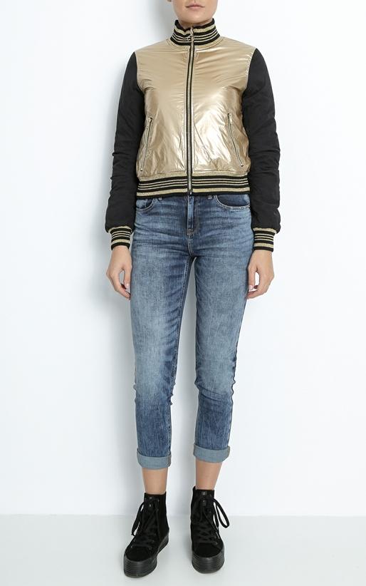 JUICY COUTURE-Γυναικείο jacket διπλής όψης JUICY μαύρο-χρυσό