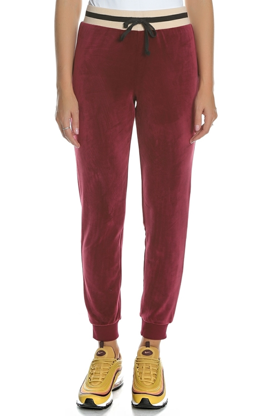 JUICY COUTURE-Γυναικείο βελουτέ παντελόνι φόρμας JUICY COUTURE LUXE VELOUR  μπορντό 9430ef71dae