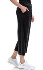 JUICY COUTURE-Γυναικείο παντελόνι φορμα VELOUR CROPPED JUICY COUTURE μαύρο