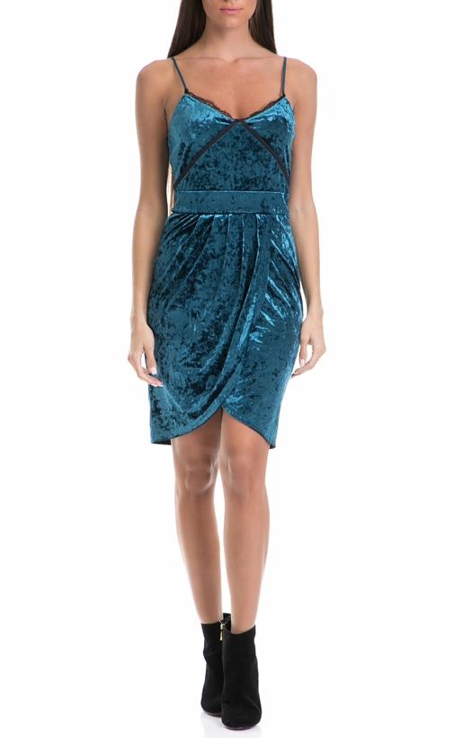 JUICY COUTURE-Γυναικείο φόρεμα TULIP JUICY COUTURE μπλε