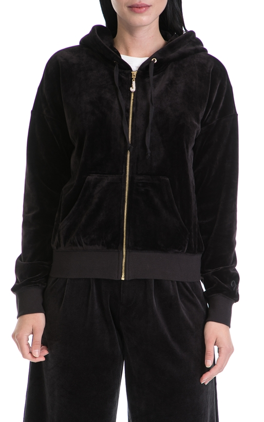 JUICY COUTURE-Γυναικεία ζακέτα LUXE VLR ROBERTSON JUICY COUTURE μαύρη