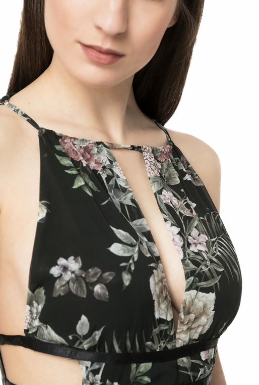 1beefcc087 Γυναικείο maxi φόρεμα L.A. DOLLS FLOWER μαύρο - LA DOLLS (1647304 ...