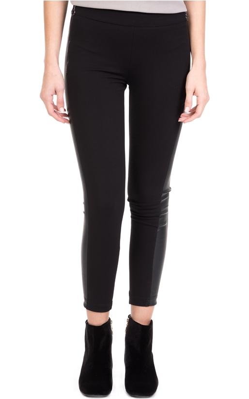 363c6c159eaf Γυναικείο παντελόνι κολάν LEATHER STRIPE LA DOLLS μαύρο (1695261 ...