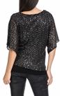 MOLLY BRACKEN-Γυναικείο πουλόβερ MOLLY BRACKEN γκρι-μαύρο