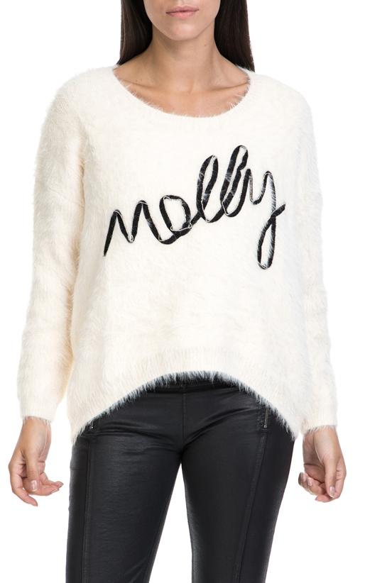 MOLLY BRACKEN-Γυναικείο πουλόβερ MOLLY BRACKEN εκρού