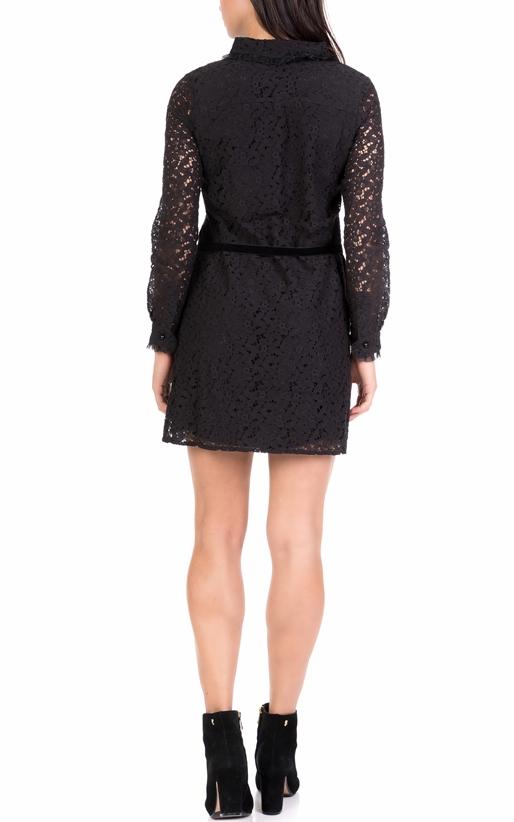 6f2d96d76891 MOLLY BRACKEN-Γυναικείο μίνι φόρεμα από δαντέλα MOLLY BRACKEN μαύρο