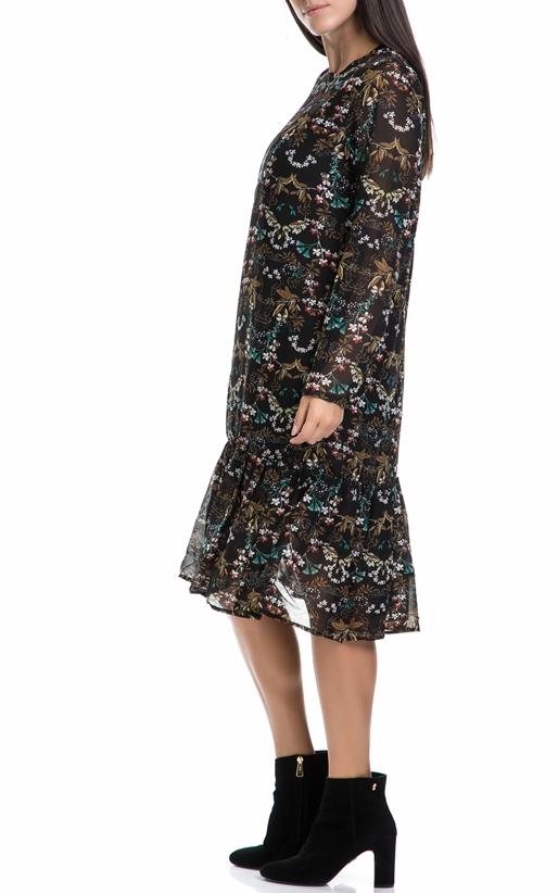 MOLLY BRACKEN-Γυναικείο φόρεμα MOLLY BRACKEN μαύρο-εμπριμέ