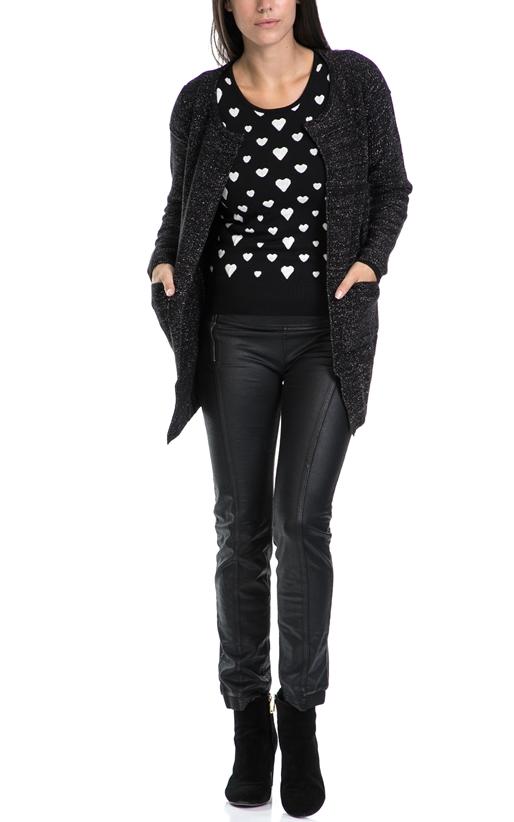 MOLLY BRACKEN-Γυναικεία ζακέτα MOLLY BRACKEN μαύρη-ασημί