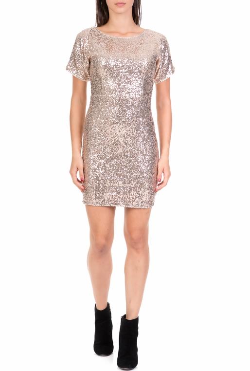 a9f5c213794c MOLLY BRACKEN-Γυναικείο μίνι φόρεμα από παγιέτες MOLLY BRACKEN μπεζ
