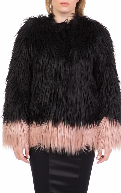 Γυναικείο γούνινο jacket NENETTE μαύρο-ροζ (1711251)  bc58b629731