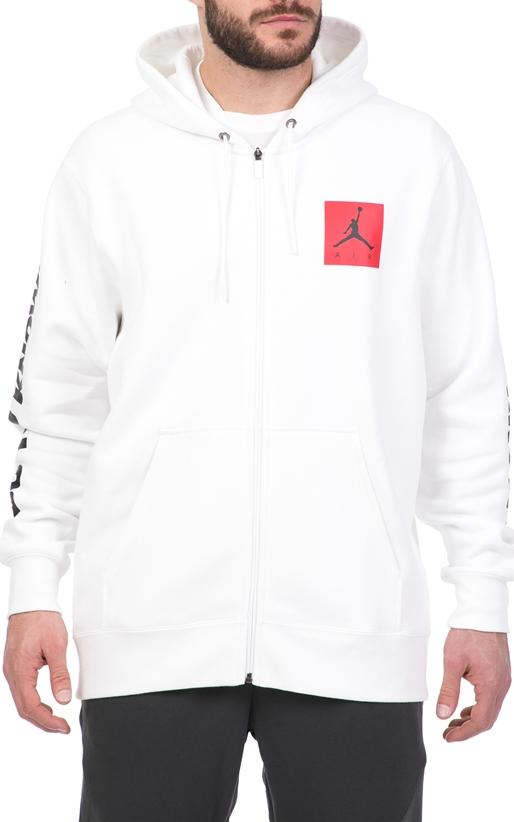 NIKE-Ανδρική φούτερ ζακέτα NIKE Jordan Sportswear AJ 3 Flight λευκή fa9c8ff45db