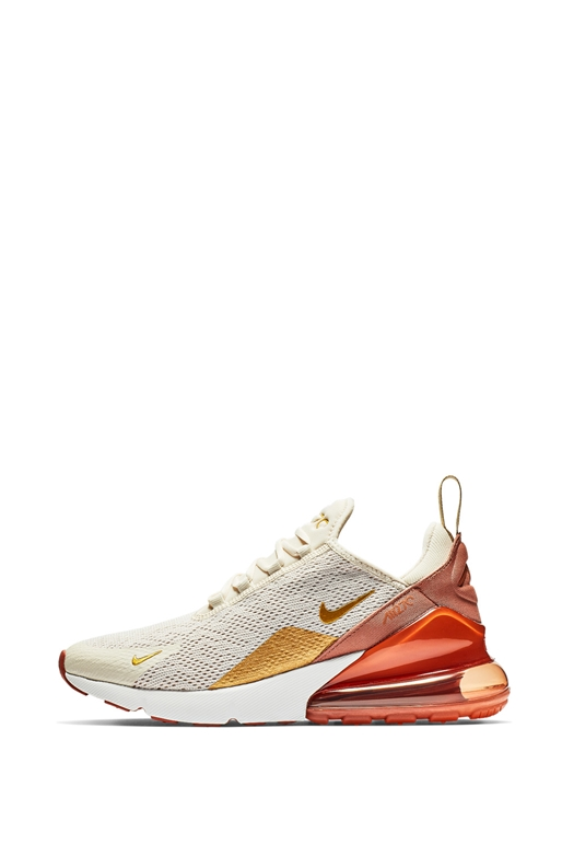 3791e05da16 NIKE-Γυναικεία αθλητικά παπούτσια Nike Air Max 270 εκρού-πορτοκαλί