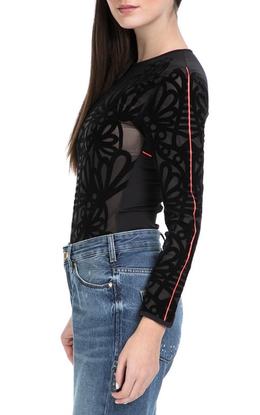 PUMA-Γυναικείο body PUMA x SW Bodysuit μαύρο