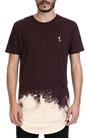 RELIGION-Ανδρική μπλούζα FROST TEE LOWER HEM & CURVE B RELIGION μοβ-μπεζ