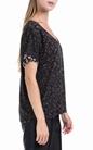 SCOTCH & SODA-Γυναικεία μπλούζα S/S tee allover printed μαύρη