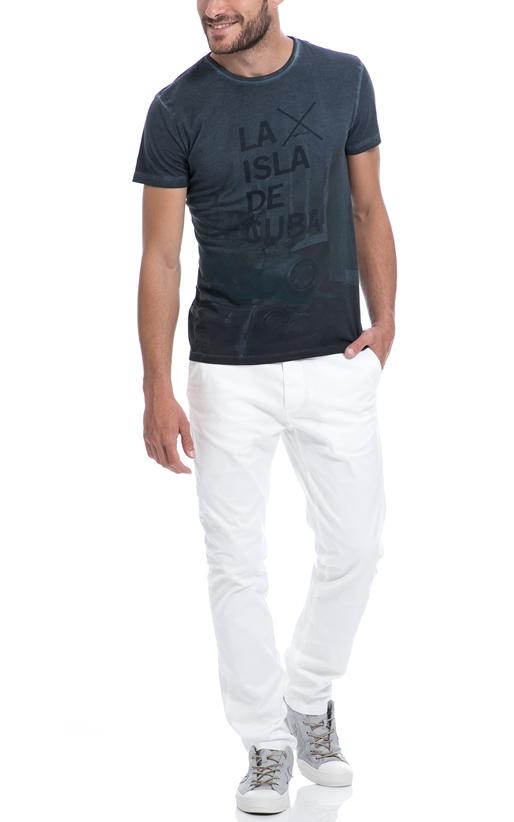 SCOTCH & SODA-Ανδρικό παντελόνι SCOTCH & SODA λευκό