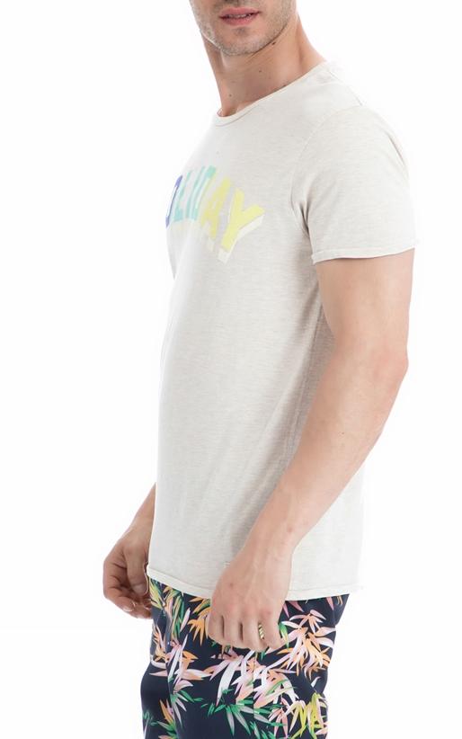 SCOTCH & SODA-Ανδρική μπλούζα SCOTCH & SODA εκρού