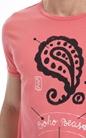 SCOTCH & SODA-Ανδρική μπλούζα SCOTCH & SODA κοραλί