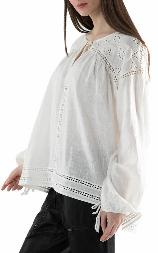 SCOTCH & SODA-Γυναικεία μακρυμάνικη μπλούζα Scotch & Soda  'Beach Favourite' εκρού