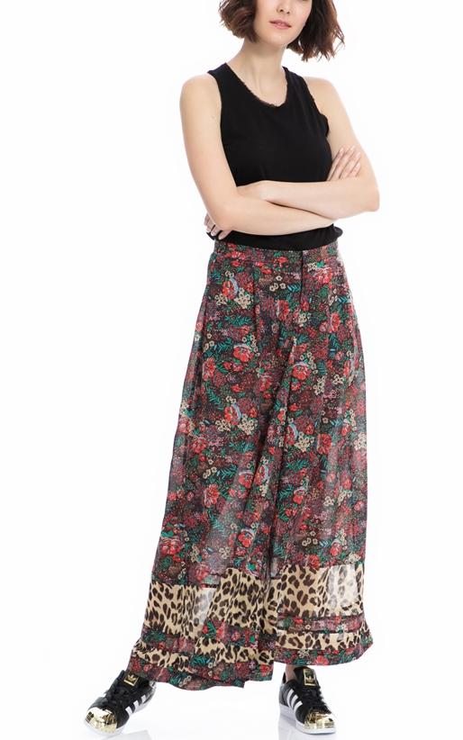 SCOTCH & SODA-Παντελόνα Wide leg pant with contrast SCOTCH & SODA εμπριμέ
