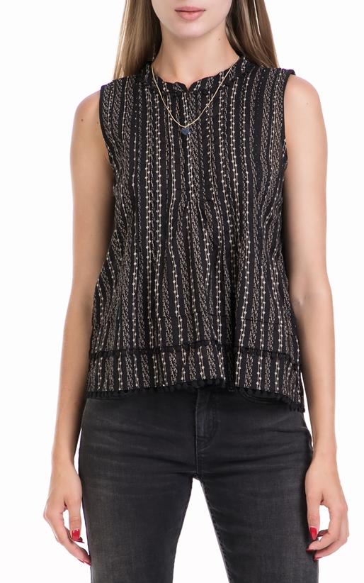 SCOTCH & SODA-Γυναικεία μπλούζα Sleeveless top with pompom μαύρη