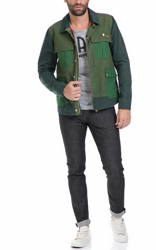 SCOTCH & SODA-Ανδρικό μπουφάν Gaucho customized workwear πράσινο