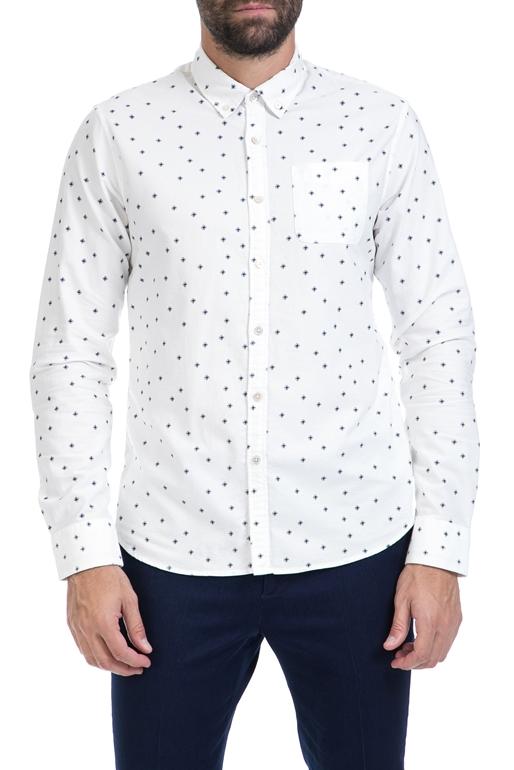 3ea4a894bd3e SCOTCH   SODA-Ανδρικό πουκάμισο Ams Blauw slim fit allover pri λευκό