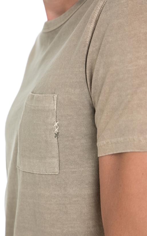 SCOTCH & SODA-Ανδρική μπλούζα Ams Blauw regular fit tee χακί