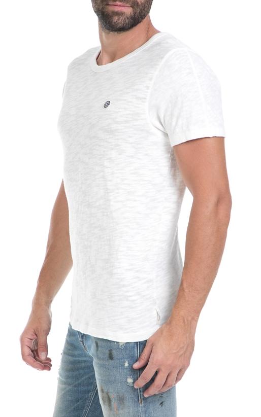 SCOTCH & SODA-Ανδρική μπλούζα Simple relaxed tee in luxury λευκή