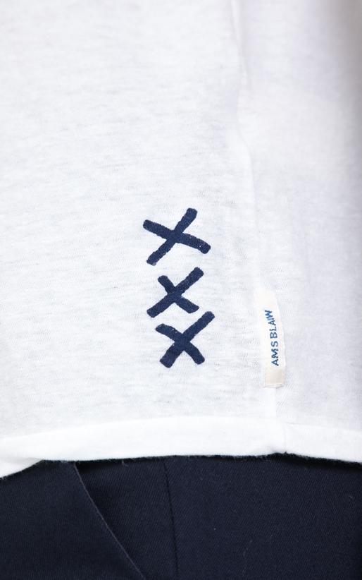 SCOTCH & SODA-Ανδρική μπλούζα Ams Blauw regular fit  graphic λευκή