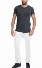 SCOTCH & SODA-Ανδρική μπλούζα Lot 22 long line t-shirt with γκρι